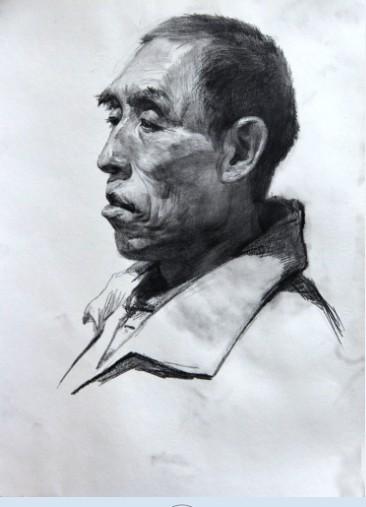 素描头像.半身像-武汉高考美术培训最好画室
